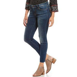 Lucky Brand Lolita Mid Rise Raw Hem Skinny Jeans 8
